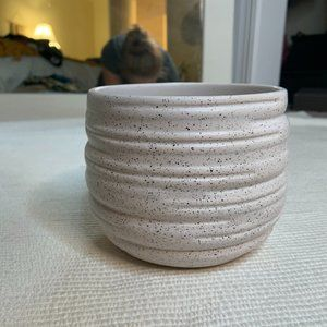 Boho Farmhouse Small Speckled Planter Vase Decor